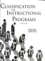 Classification of Instructional Programs PDF