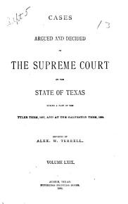 Cases Argued and Decided in the Supreme Court of the State of Texas PDF