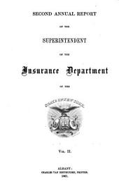 Annual Report of the Superintendent of Insurance to the New York Legislature: Volume 1861