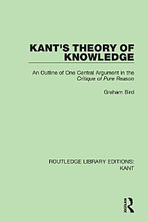 Kant s Theory of Knowledge Book