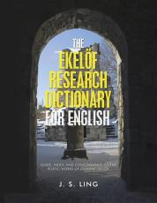 The Ekelöf Research Dictionary for English