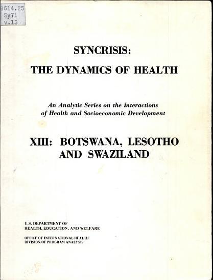 Syncrisis  Botswana  Lesotho  and Swaziland PDF