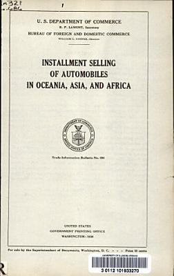 Installment Selling of Automobiles in Oceania  Asia  and Africa