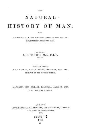 The    Natural History of Man PDF