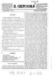 Il crepuscolo: rivista settimanale di scienze, lettere, arti, industria e commercio