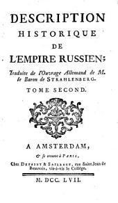 Description historique de l'Empire russien: Volume1