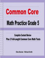 Common Core Math Practice Grade 5 PDF