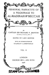 Personal Narrative of a Pilgrimage to Al-Madinah and Meccah: Volume 2