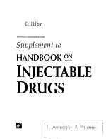 Supplement to Handbook on Injectable Drugs PDF