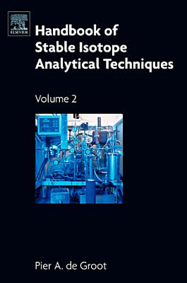 Handbook of Stable Isotope Analytical Techniques