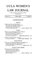 UCLA Women's Law Journal