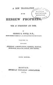 A New Translation of the Hebrew Prophets: Volume 2