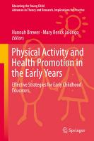 Physical Activity and Health Promotion in the Early Years PDF