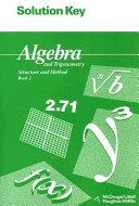 Algebra and Trigonometry Book 2 Solution Key