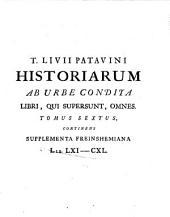 T. Livii Patavini Historiarum ab urbe condita libri qui supersunt omnes: Fragmenta deperditorum librorum T. livii