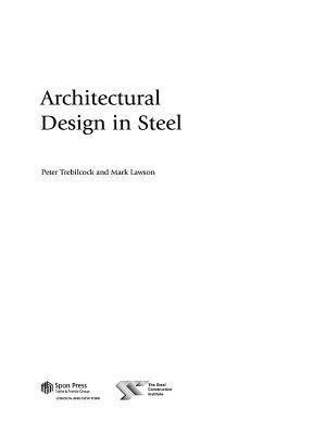 Architectural Design in Steel PDF