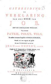 Uitbreiding en verklaring van het boek van Job