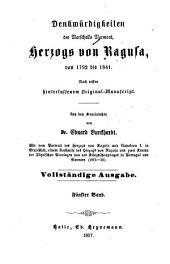 Denkwürdigkeiten des Marschalls Marmont, Herzogs von Ragusa, von 1792 bis 1841: nach dessen hinterlassenem Original, Band 5