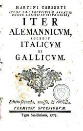 Iter Alemannicum, accedit Italicum et Gallicum