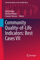 Community Quality Of Life Indicators Best Cases Vii