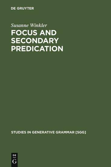 Focus and Secondary Predication PDF