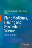 Plant Medicines  Healing and Psychedelic Science PDF