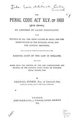 The Penal Code  Act XLV  of 1860 PDF