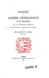 Saggio di albero genealogico e di memorie su la famiglia Borgia, specialmente in relazione a Ferrara