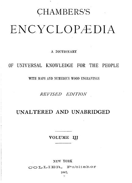 Download Chambers s Encyclopaedia Book