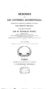 Mémoires sur les contrées occidentales