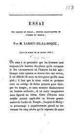 Essai sur Jacques de Molay, dernier grand-maître de l'ordre du Temple