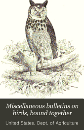 Miscellaneous Bulletins on Birds, Bound Together: Volume 1