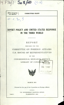 Soviet Policy and United States Response in the Third World PDF