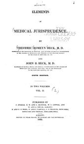 Elements of Medical Jurisprudence: Volume 2