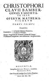 Opera Mathematica: V Tomis distributa, Volume 1