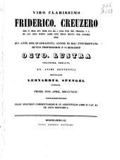 Inest specimen commentariorum in Aristotelis libri II cap. 23 de arte rhetorica: Volume 1