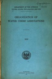 Organization of Water Users' Associations
