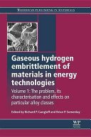 Gaseous Hydrogen Embrittlement of Materials in Energy Technologies  The problem  its characterisation and effects on particular alloy classes PDF
