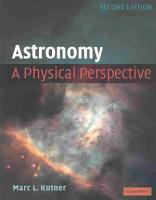 Astronomy  A Physical Perspective PDF
