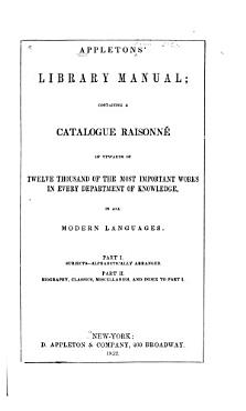 Appleton s Library Manual PDF