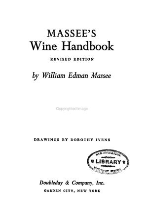 Massee s Wine Handbook