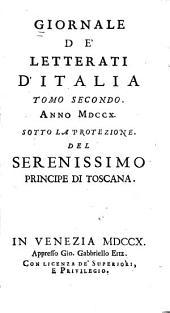 Giornale de' letterati d'Italia: Volume 2