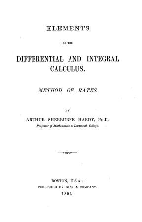 Elements of the Differential and Integral Calculus PDF