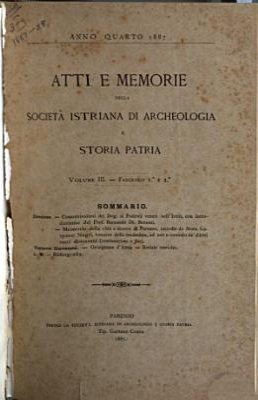Atti e memorie della Societ   istriana di archeologia e storia patria PDF