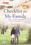 ABA AARP Checklist for My Family Book