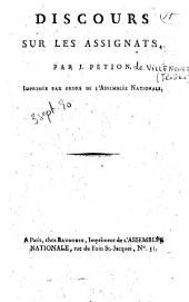Discours sur les assignats par M. J. Pétion