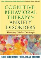 Cognitive Behavioral Therapy for Anxiety Disorders PDF