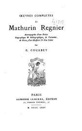 Oeuvres complètes de Mathurin Regnier