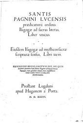 Isagogae ad sacras literas libri XVIII