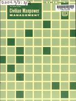 Civilian Manpower Management PDF